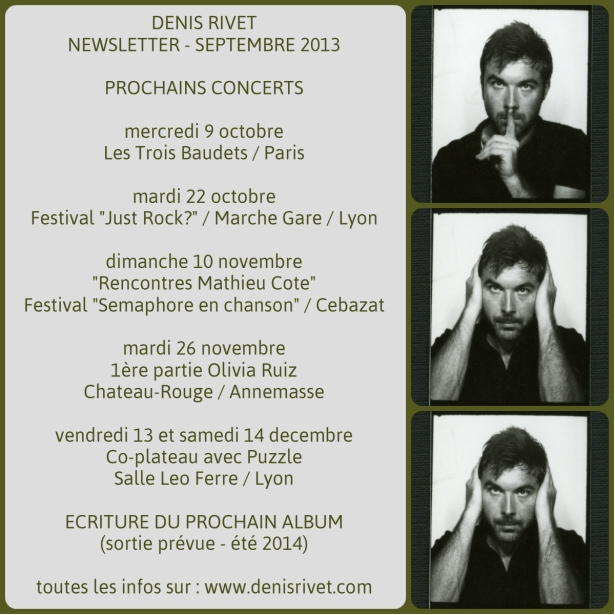 Newsletter - Denis Rivet - Septembre 2013
