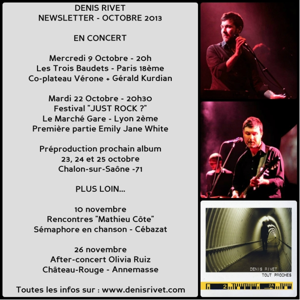 denis rivet - newsletter octobre 2013