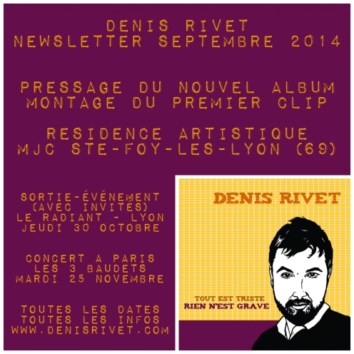 newsletter septembre 2014 - denis rivet