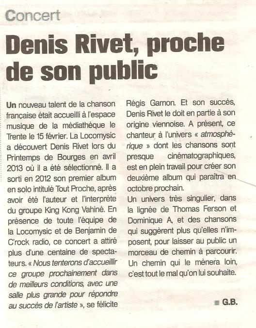 Concert DENIS RIVET PARTIE 1